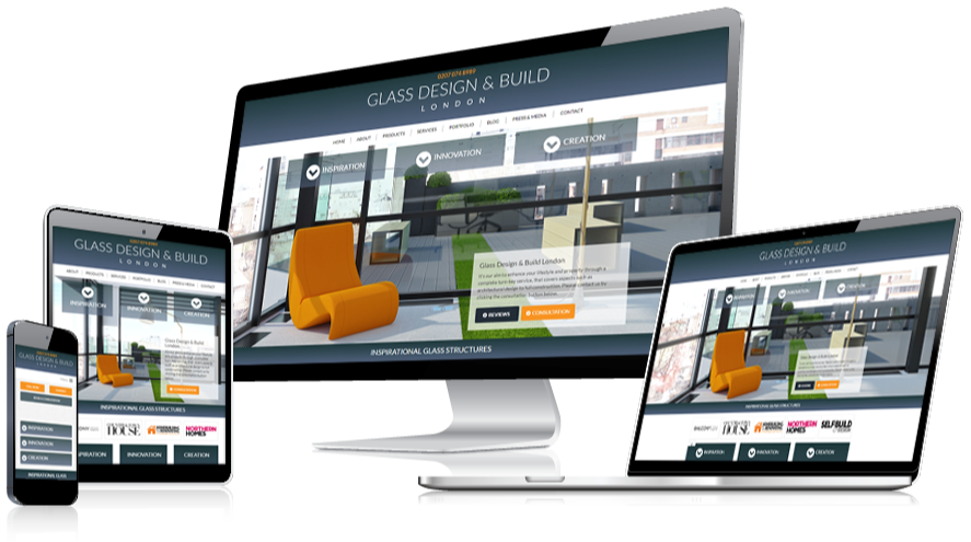 Glass Design and Build Web Design Layout