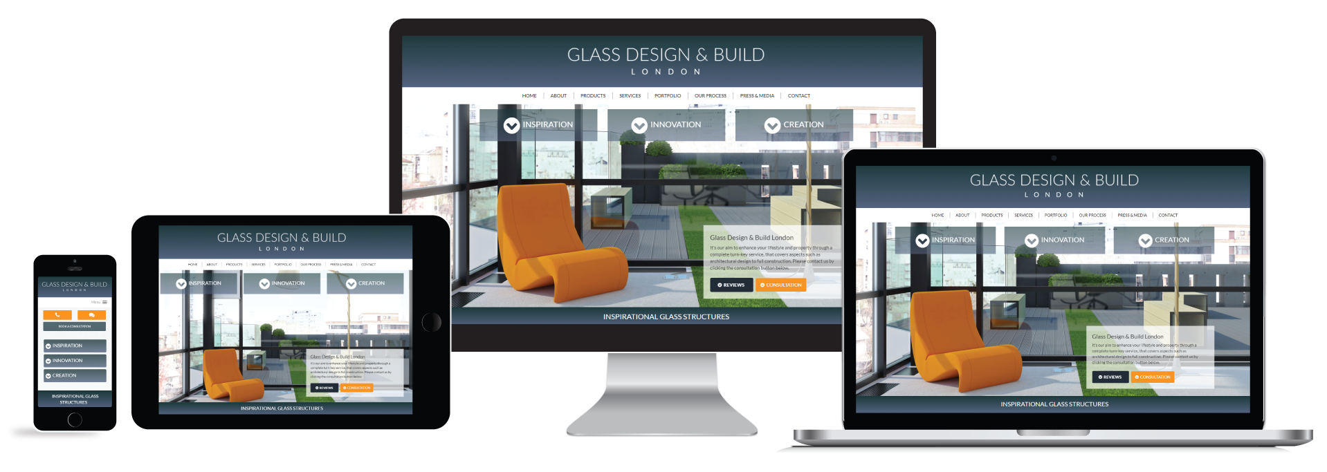 GDAB website device views