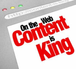 Content-is-king-text-on-webpage
