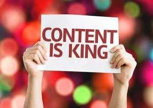 Content is king sign