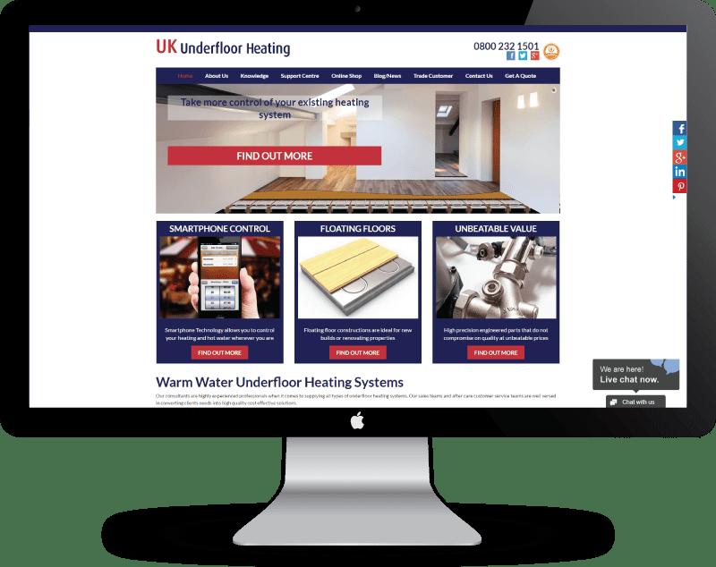 UK Underfloor Heating Website Re-design Case Study