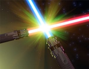 Light saber battle