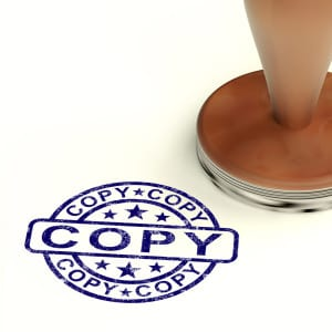 Copy Stamp Showing Duplicate Replicate Or Reproduction