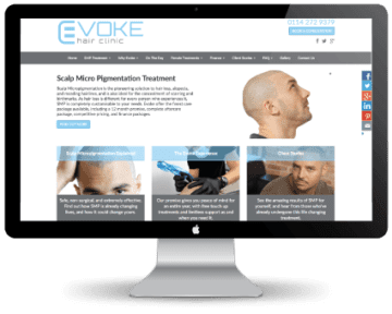 evoke website screenshot on mac