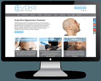 Evoke Hair Clinic Re Design Case Study