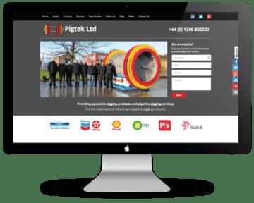 Pigtek web design iMac