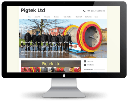 Pigtek website design before