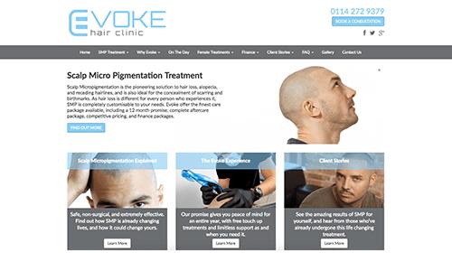 Evoke website homepage