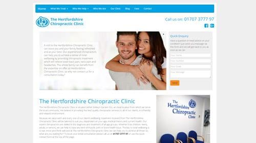 Hertfordshire clinic homepage