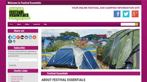 Festival Essentials homepage