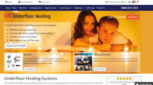 UK Underfloor homepage