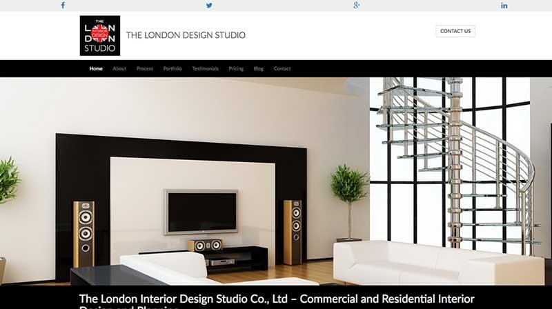 The London Design Studio homepage