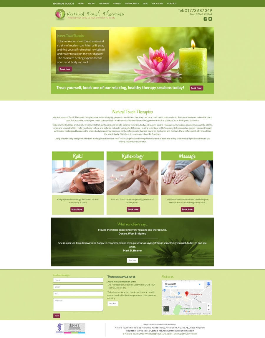 seo copilot Natural Touch Portfolio