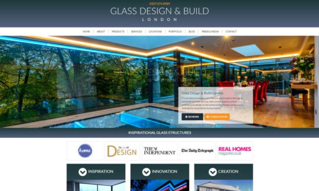 Glass Design and Build portfolio