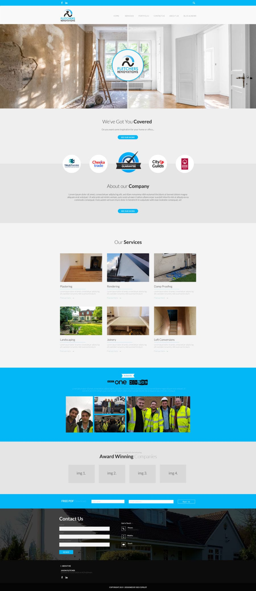 SEO CoPilot Plastering Visual portfolio