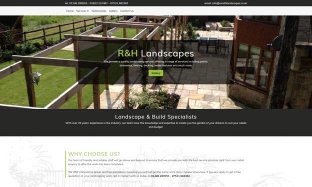 SEO CoPilot R and H Landscapes Portfolio