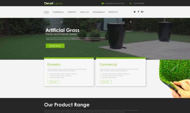 seo copilot Decart Lawns portfolio