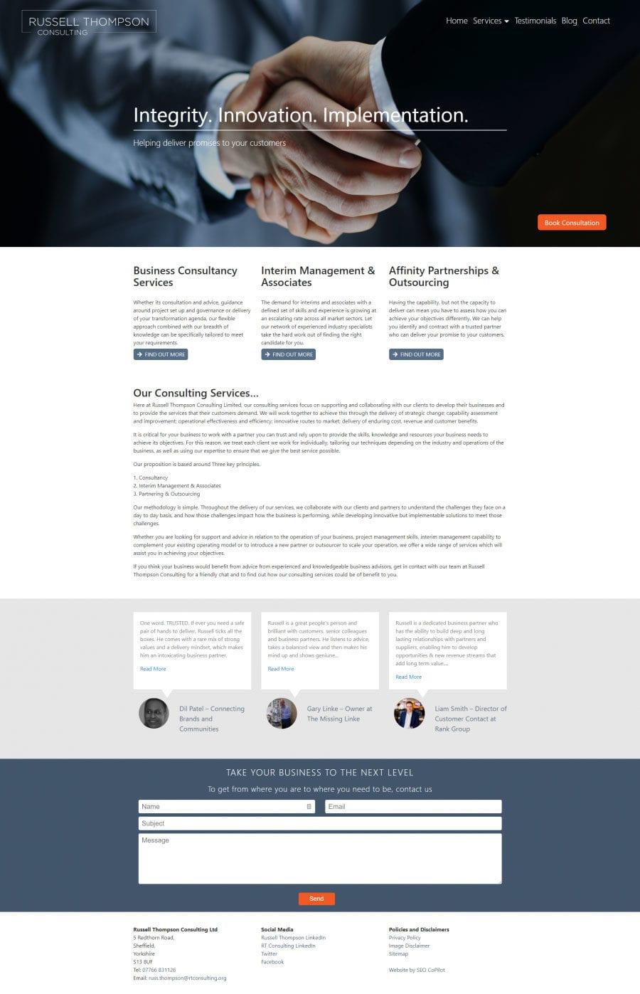 seo copilot RT consulting portfolio